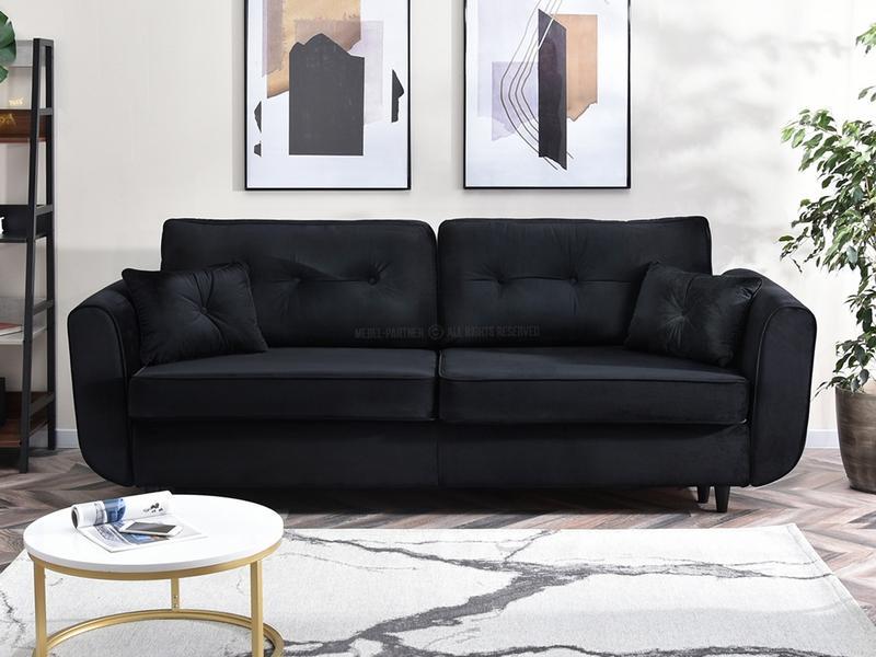 czarna sofa