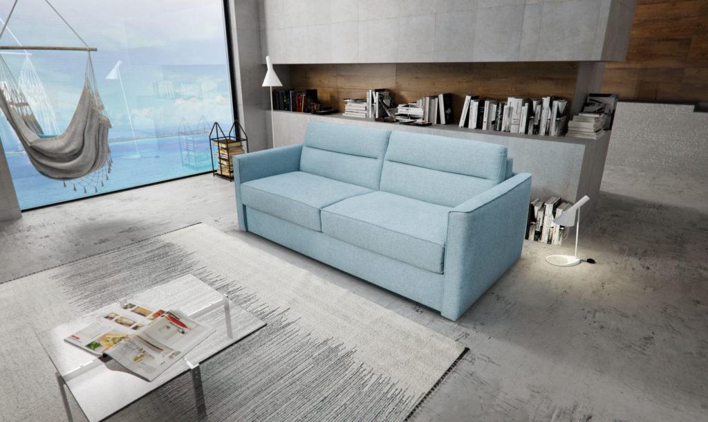 sofa błękitna