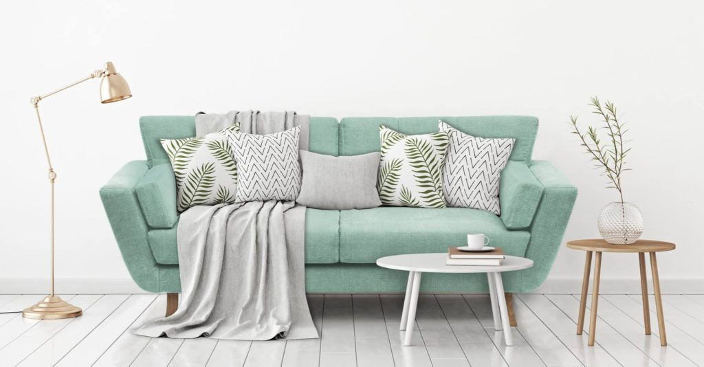 pastelowe sofy