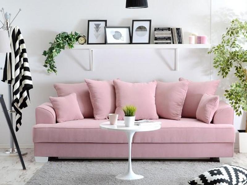 różowe sofy
