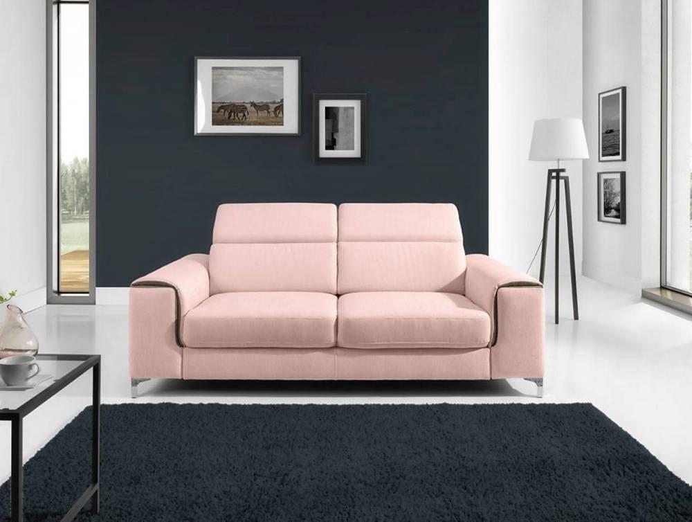 sofa różowa