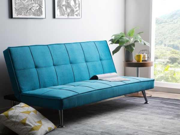 turkusowa mała sofa
