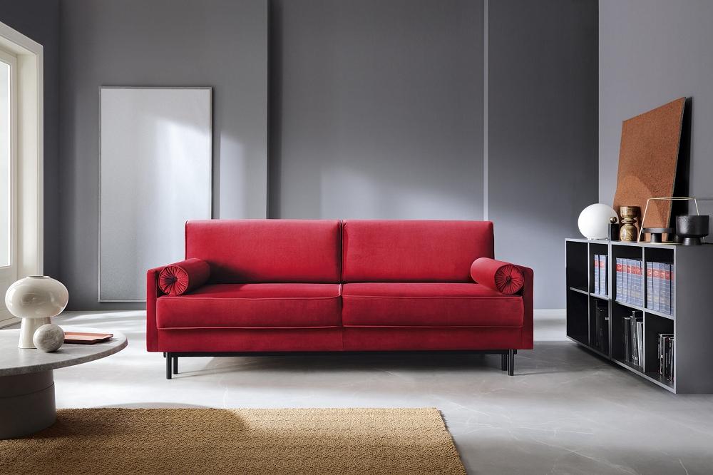 sofa czerwona