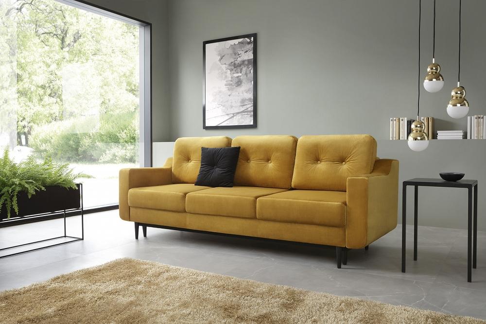 żółte sofy ifotele