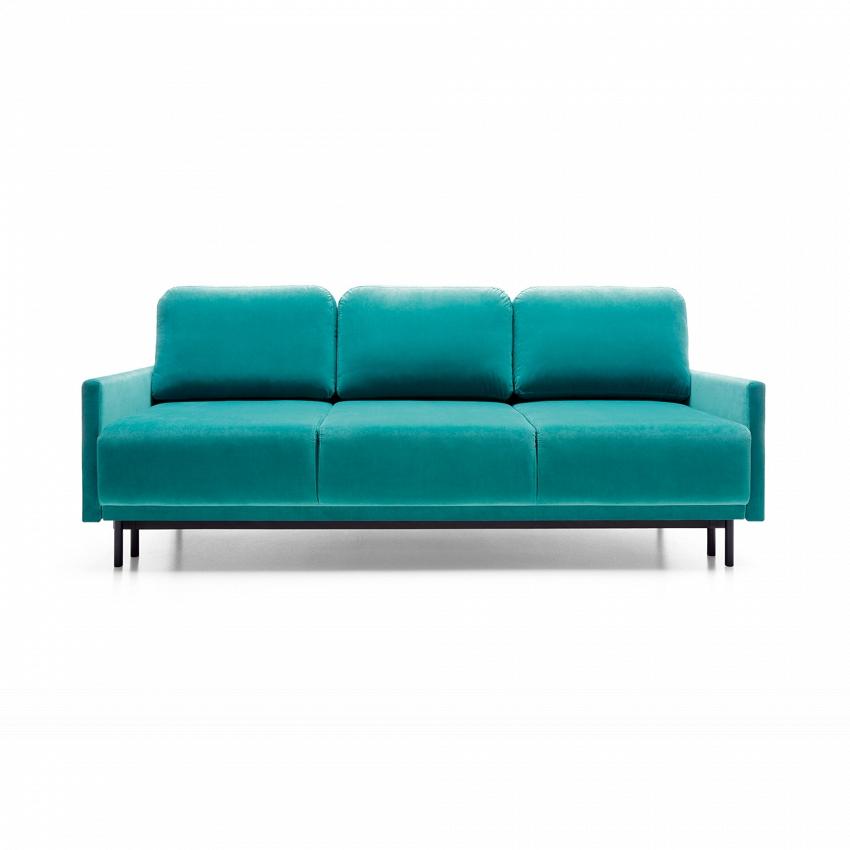 turkusowa sofa ooryginalnym wyglądzie
