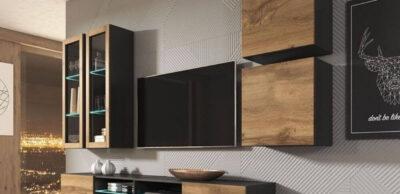 Najmodniejsze, praktyczne szafki RTV dosalonu urządzonego wstylu nowoczesnym