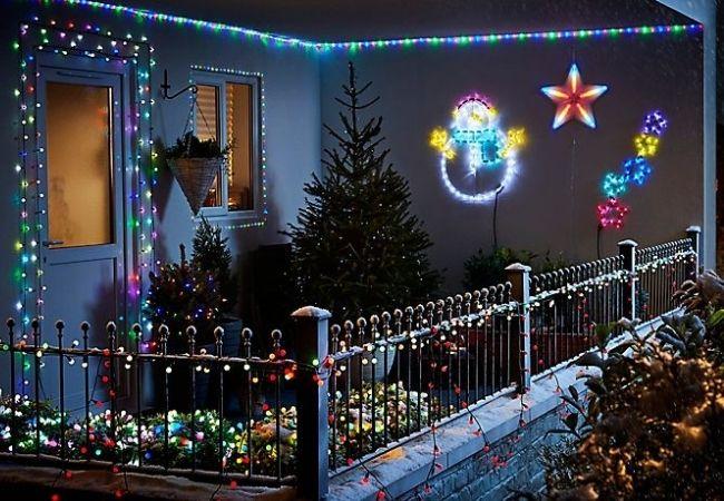 oświetlenie świąteczne nabalkon