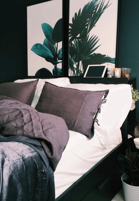 stylowe łózko sypialniane