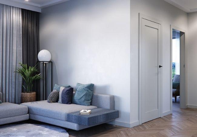 szare drzwi - porta grande uv